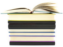 Pile of color books Royalty Free Stock Images