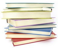 Pile of color books Royalty Free Stock Photo