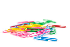Pile of color clips Royalty Free Stock Photo