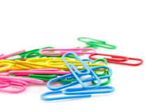 Pile of color clips Stock Photos
