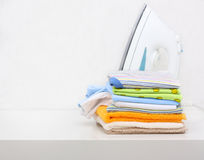 Pile of color clothes Stock Photography