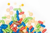 Pile of color pills Royalty Free Stock Image