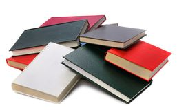 Pile colored of books Royalty Free Stock Photo