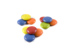 Pile of colored chocolates Stock Photos
