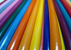 Colored pencils, crayons pile Royalty Free Stock Photos