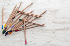 Pile of Colored Pencils Royalty Free Stock Image