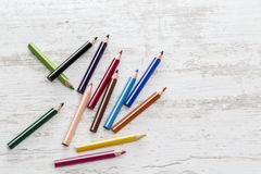 Pile of Colored Pencils Royalty Free Stock Photo