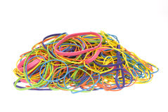 Pile of colored rubber bands Royalty Free Stock Photo