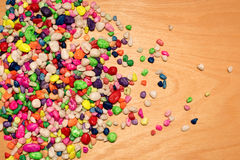 Pile of colored small stones Royalty Free Stock Photos