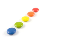Pile of colored smarties Stock Photo