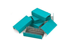 Pile of colored staples Stock Photography