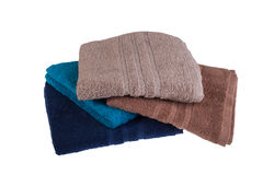 Pile of colored towels Royalty Free Stock Photography