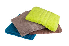 Pile of colored towels Stock Image