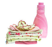 Pile of colorful baby clothes Stock Images