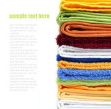 Pile of colorful bath or spa towels Stock Photography