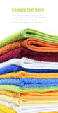 Pile of colorful bath or spa towels Royalty Free Stock Photos