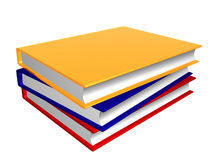Pile of colorful books Royalty Free Stock Photography