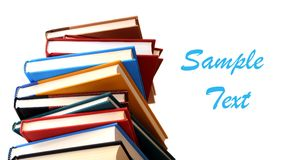 A pile of colorful books Royalty Free Stock Photos