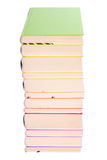 Pile of colorful books. Isolated on white royalty free stock images