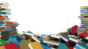 Pile of colorful books on white background Royalty Free Stock Image