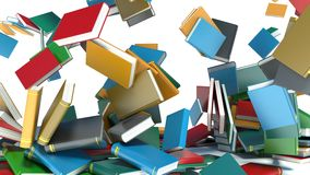 Pile of colorful books on white background Royalty Free Stock Images