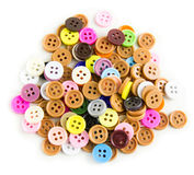 Pile of colorful bottons. Royalty Free Stock Image