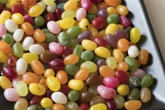 Pile of colorful candy, jelly beans royalty free stock image