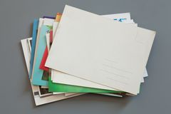 Pile of colorful cards Stock Photography
