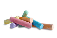 Pile of colorful chalks for kids to play with Stock Photography