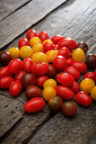 Pile of colorful cherry tomatoes Stock Photo