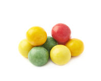Pile of colorful chewing gum balls Stock Images