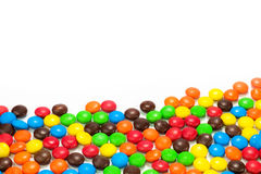 Pile of colorful chocolate candy Stock Photography