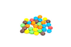 A pile of colorful chocolate coated candy Royalty Free Stock Photo