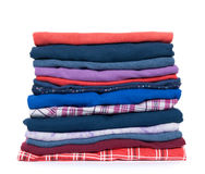Pile of colorful clothes Stock Photos