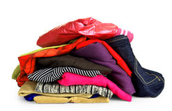 Pile of colorful clothes Royalty Free Stock Images