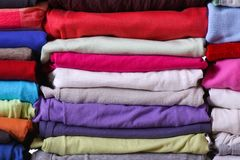 Pile of colorful clothes Royalty Free Stock Photo