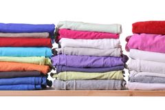 Pile of colorful clothes Stock Photo