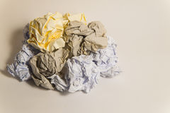 Pile of colorful Crumpled paper Balls Royalty Free Stock Images