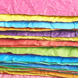 Pile of colorful crumpled sheets Royalty Free Stock Photo