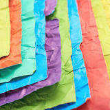 Pile of colorful crumpled sheets Royalty Free Stock Photography