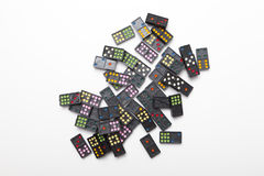 Pile of colorful dominoes Stock Photo