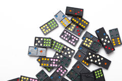 Pile of colorful dominoes Royalty Free Stock Photo