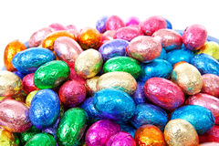 Pile of colorful easter eggs Royalty Free Stock Photos