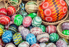 Pile of colorful Easter eggs Stock Image