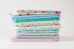 A pile of colorful fabric Royalty Free Stock Images