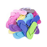 Pile of Colorful Flip Flops #1 Stock Photo