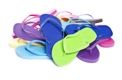 Pile of Colorful Flip Flops #2 Royalty Free Stock Photos
