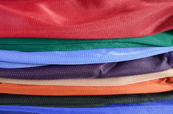 Pile of colorful folded clothes. Stock Photography
