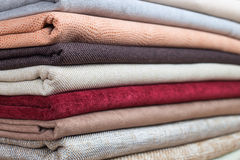 Pile of colorful folded textile Stock Photography