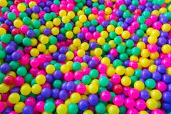 Pile of colorful little balls for children Stock Photos